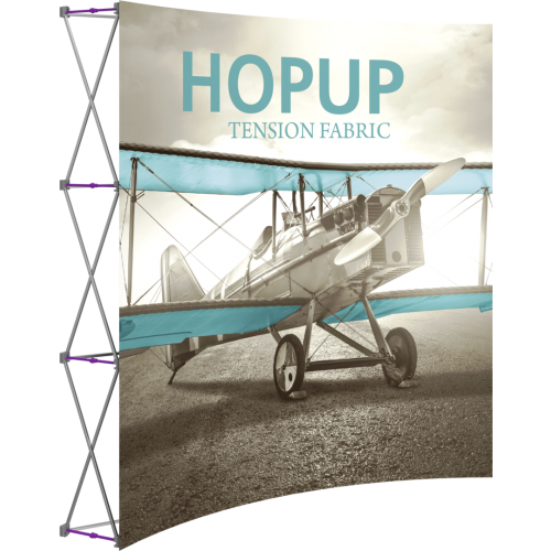 Hopup 7.5ft Curved Full Height Tension Fabric Display